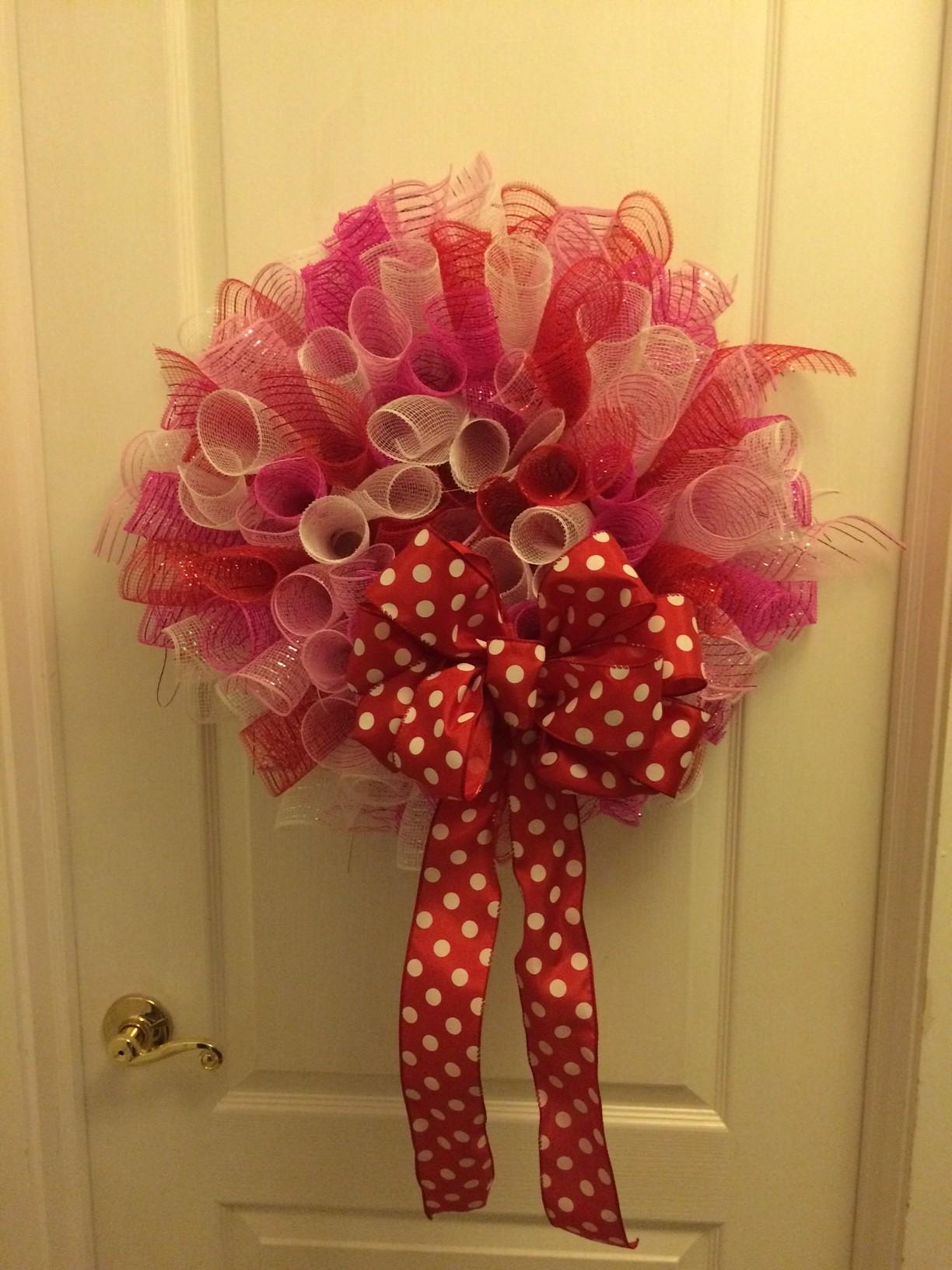 Valentine Rag Wreath