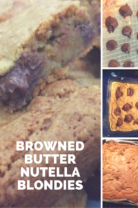 These browned butter Nutella blondies combine the nutty richness of browned butter with the chocolate indulgence of Nutella.  Yum!