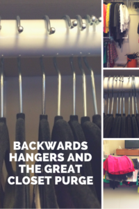 Turning your hangers backward: the key to a successful wardrobe purge.