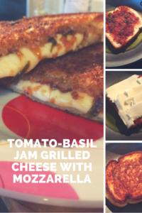 tomato basil grilled cheese mozzarella crunchy gooey