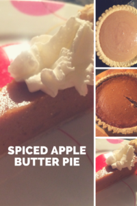 Spiced apple butter pie is a delicious fall dessert!