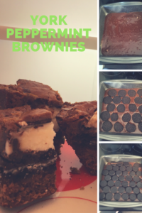 Adding York peppermint brownies and Oreos to a plain brownie recipe or mix is an easy way to dress them up!
