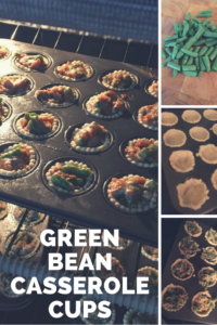 Green bean casserole cups turn a comfort food into a finger food!
