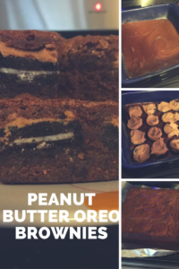 Add peanut butter and Oreos to your favorite brownie recipe or mix!