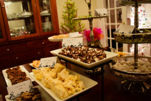 Christmas party spread