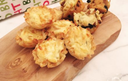 Avoid double-dipping! Bake French onion dip in mini-muffin pie crust cups.
