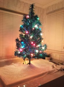 No space to stick another Christmas tree? Give it a bath!