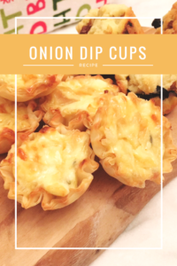 Avoid double-dipping! Bake onion dip into pie crust cups in a mini-muffin tin!