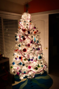 White disco Christmas tree