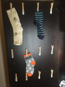 lost sock clothespin solution