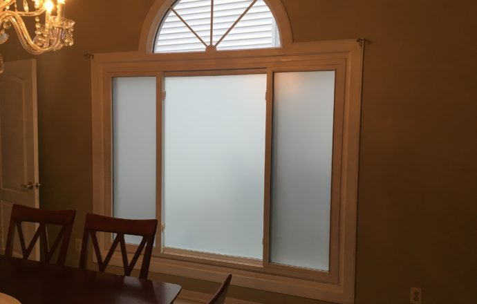 frosted window film application