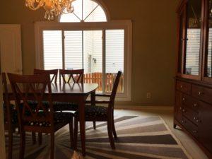 naked window dining room west elm rug