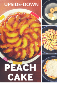 This upside-down peach cake is juicy and delicious! It's not a lot of work either!