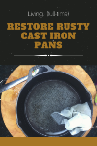 Did you accidentally let water meet your cast iron skillet? Don't throw it away! Follow these simple steps to restore your pan to its former glory!