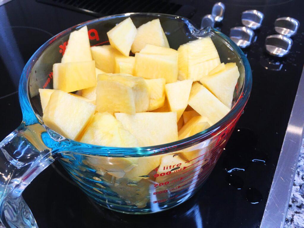 chopped rutabaga raw