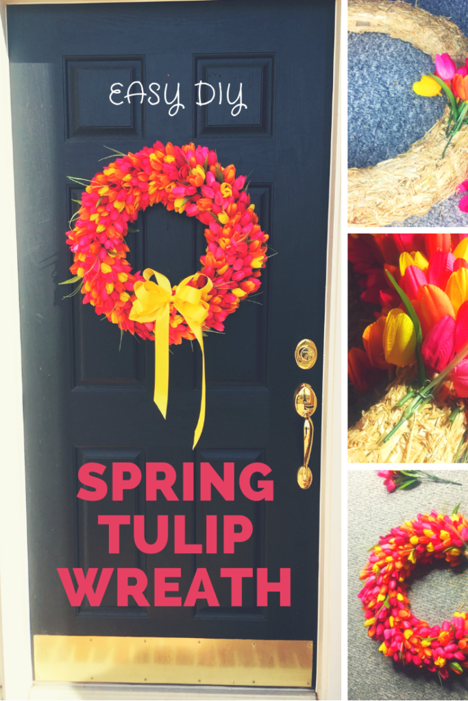 Welcome spring with this DIY tulip wreath!